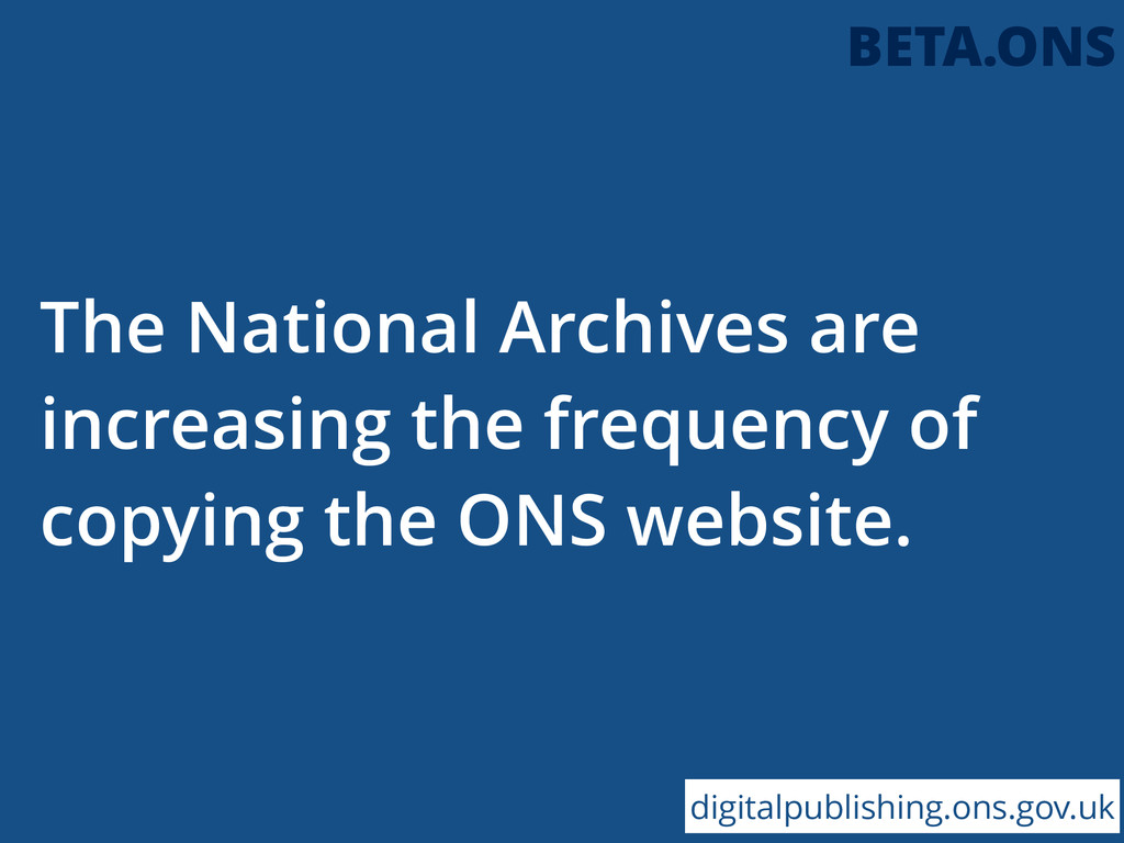 The National Archives are increasing the freque...