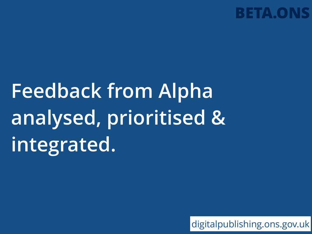 Feedback from Alpha analysed, prioritised & int...