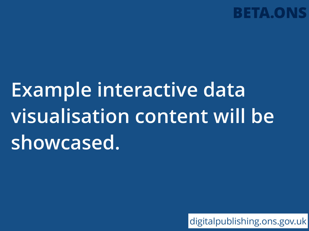 Example interactive data visualisation content ...