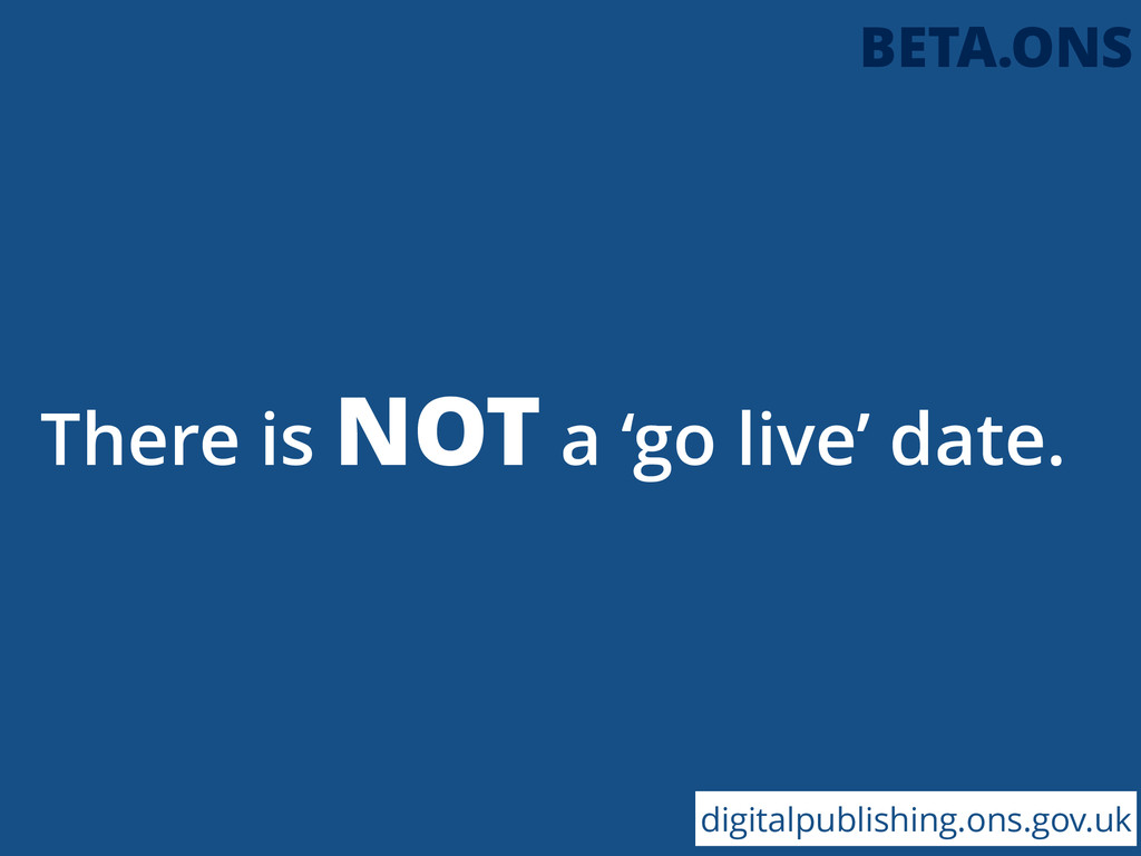 There is NOT a 'go live' date. digitalpublishin...