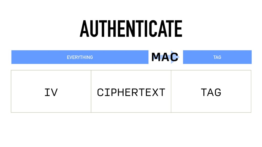 AUTHENTICATE IV CIPHERTEXT TAG EVERYTHING TAG M...