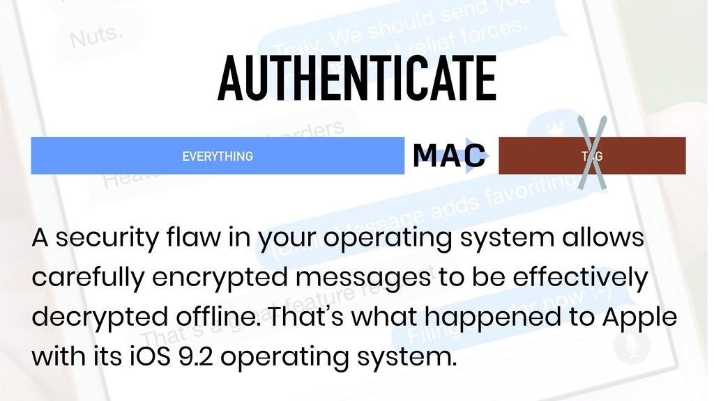AUTHENTICATE TAG A security flaw in your operat...