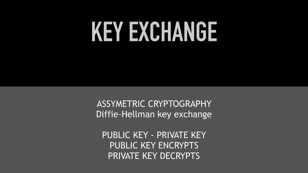 KEY EXCHANGE ASSYMETRIC CRYPTOGRAPHY Diffie–Hel...