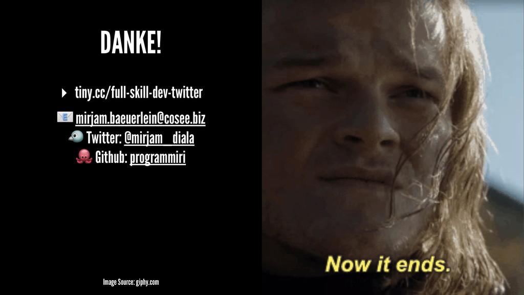 DANKE! ▸ tiny.cc/full-skill-dev-twitter ! mirja...