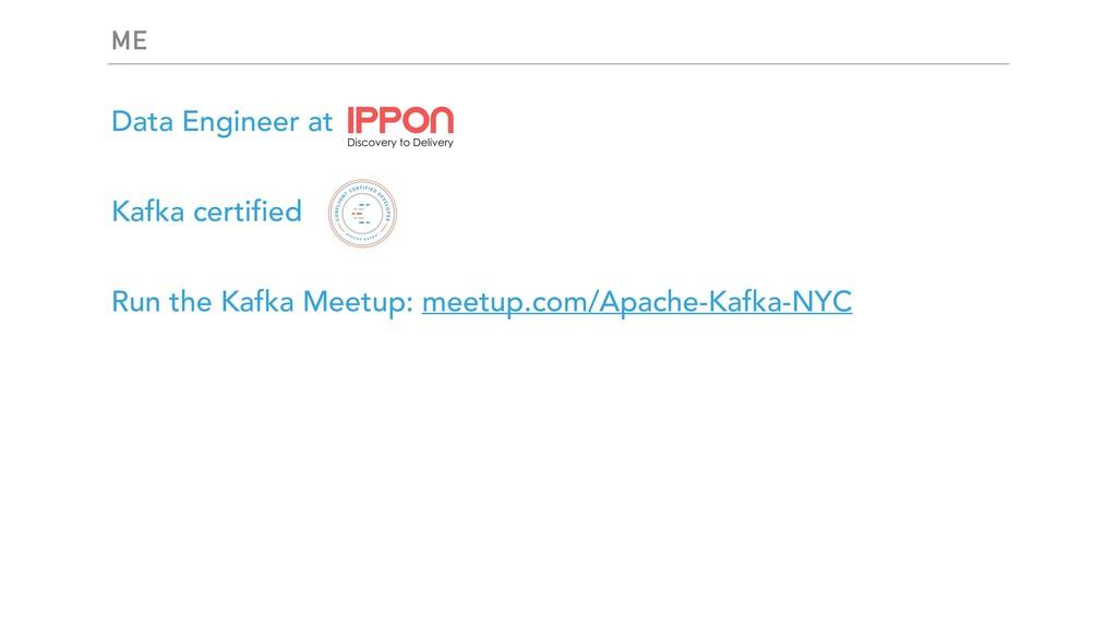 ME Data Engineer at Kafka certified Run the Kaf...