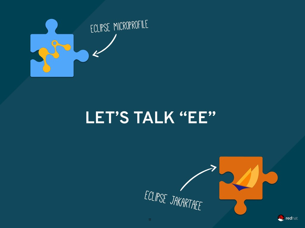 """LET'S TALK """"EE"""" 11 Eclipse MicroProfile Eclipse..."""