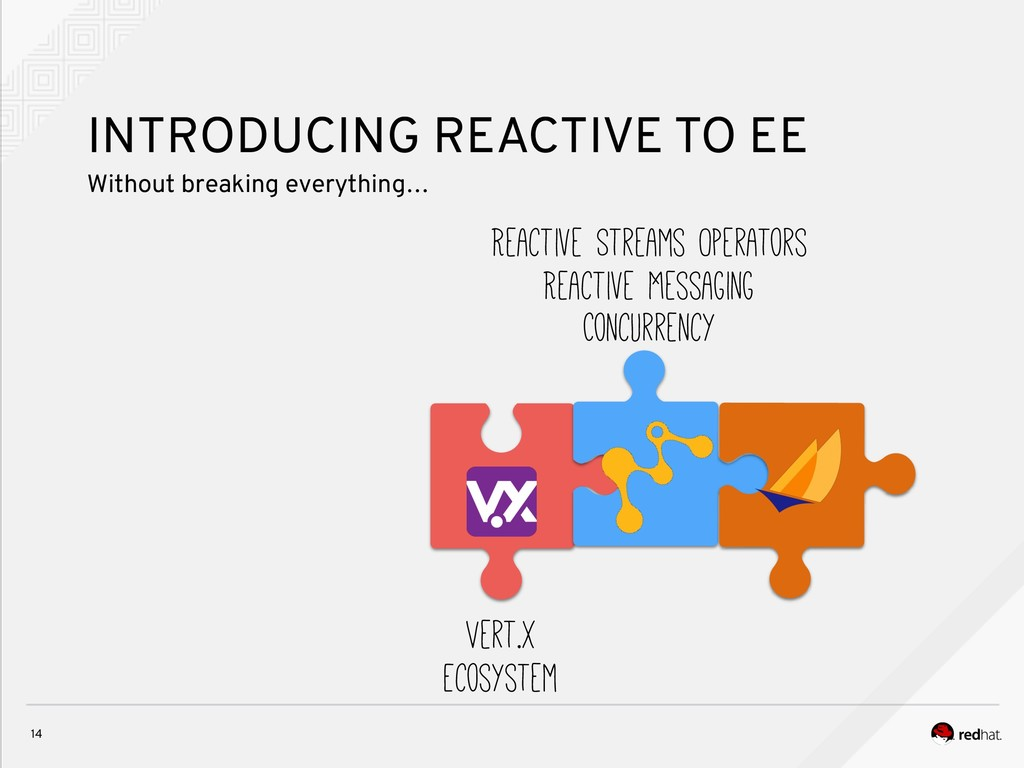 14 INTRODUCING REACTIVE TO EE Without breaking ...