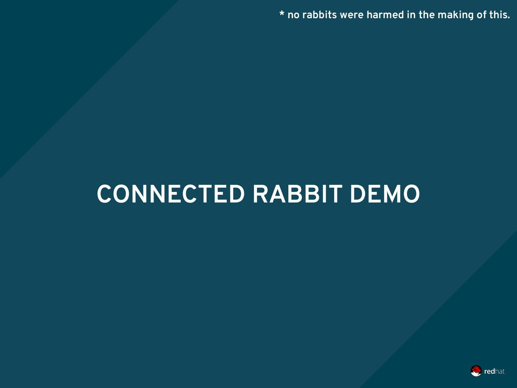 CONNECTED RABBIT DEMO * no rabbits were harmed ...