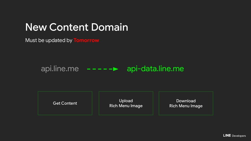 Developers api.line.me New Content Domain Must ...
