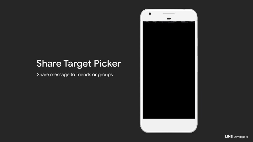 Developers Share Target Picker Share message to...