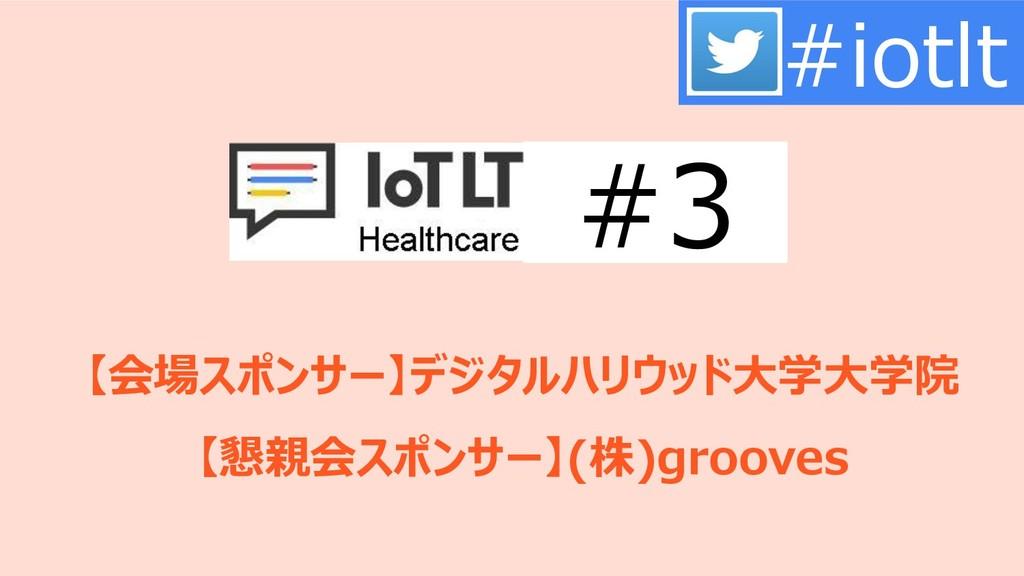 【会場スポンサー】デジタルハリウッド大学大学院 【懇親会スポンサー】(株)grooves #i...