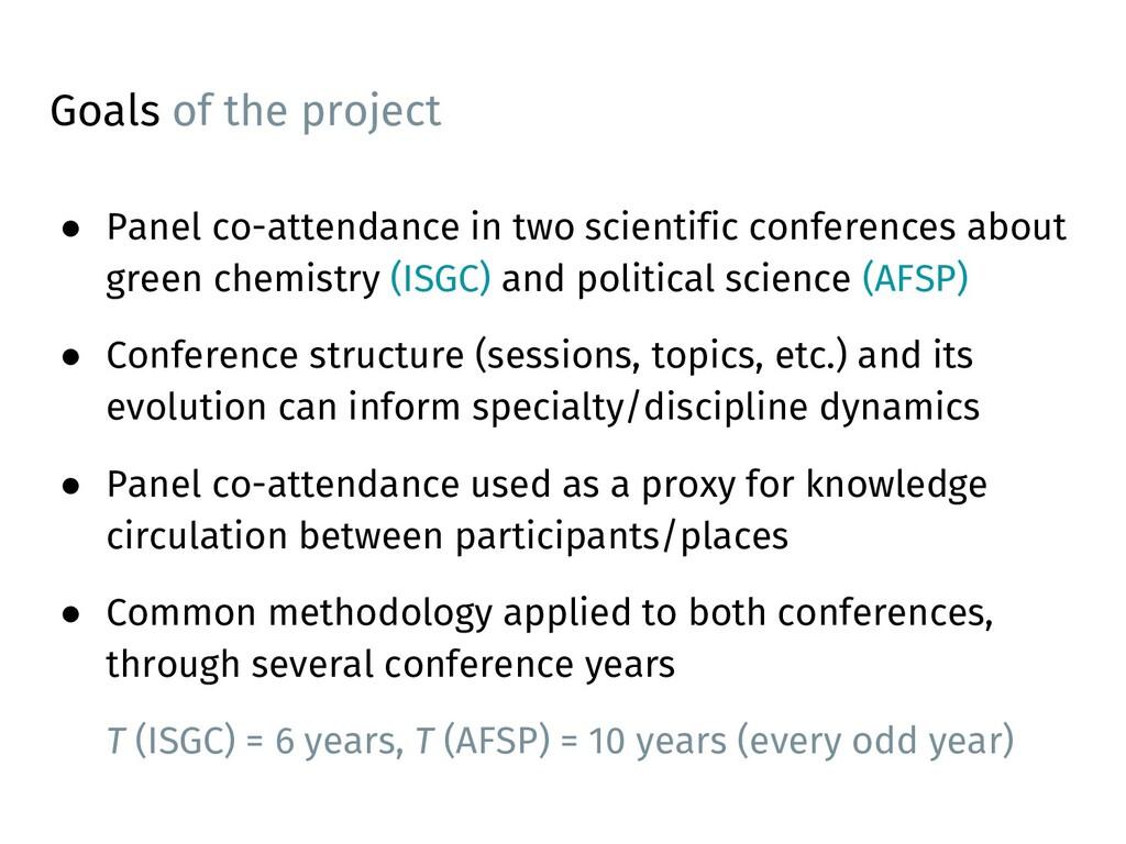 ● Panel co-attendance in two scientific confere...