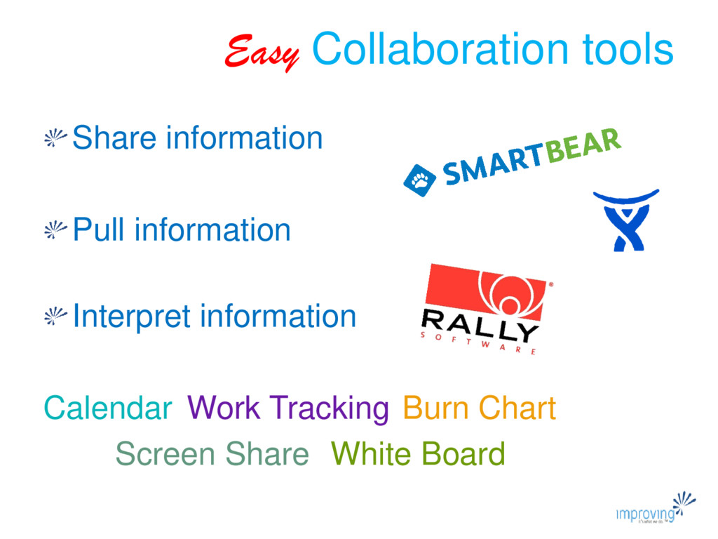 Easy Collaboration tools Share information Pull...