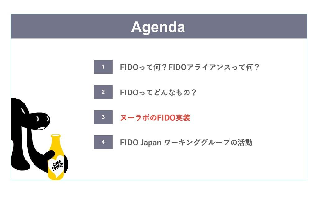 Agenda FIDOってどんなもの? ヌーラボのFIDO実装 FIDO Japan ワーキン...
