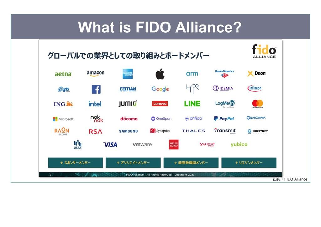 What is FIDO Alliance? 出典:FIDO Alliance