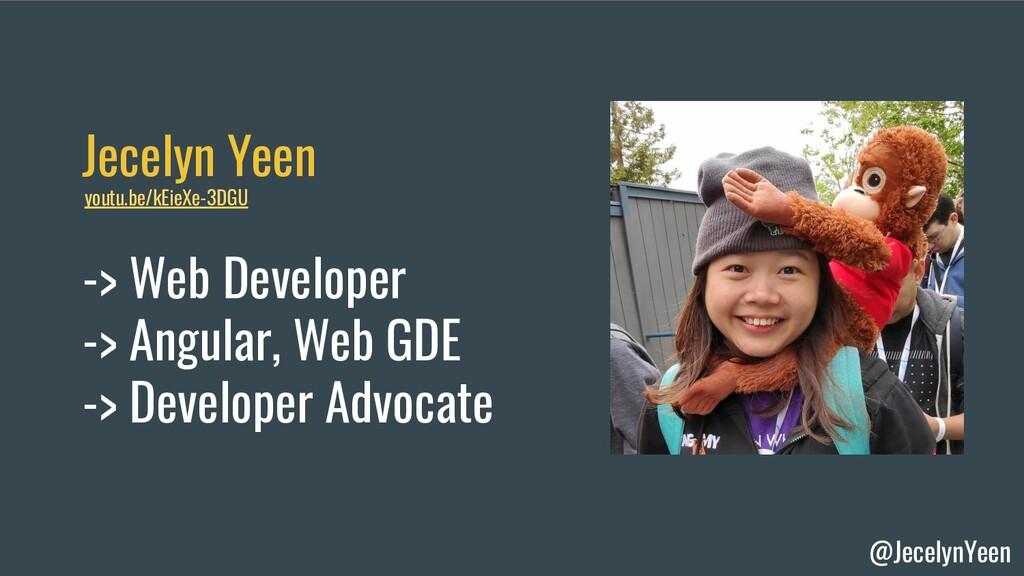 @JecelynYeen Jecelyn Yeen -> Web Developer -> A...