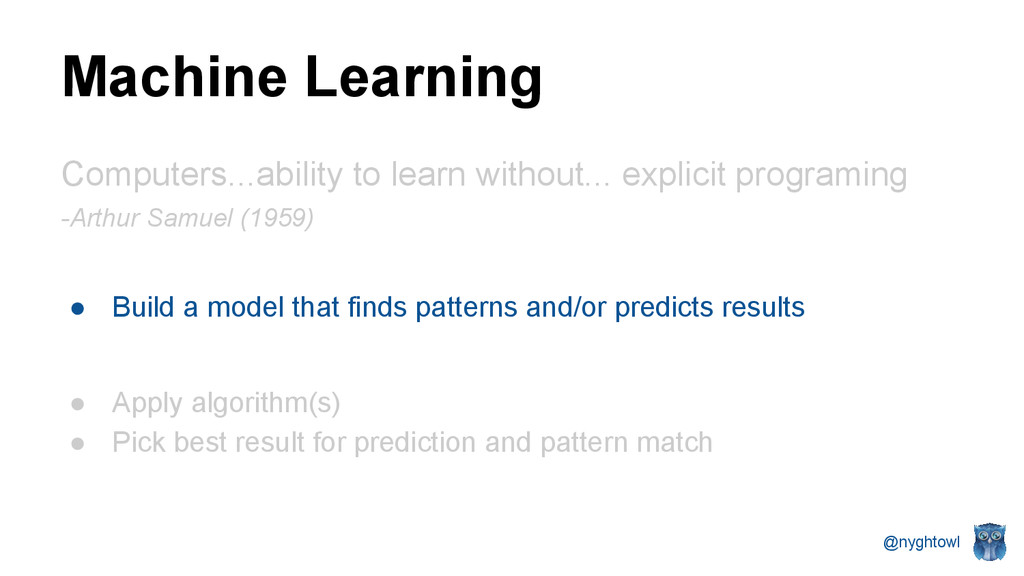 @nyghtowl Machine Learning Computers...ability ...