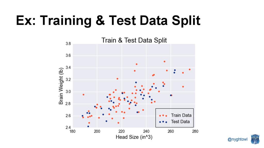 @nyghtowl Ex: Training & Test Data Split
