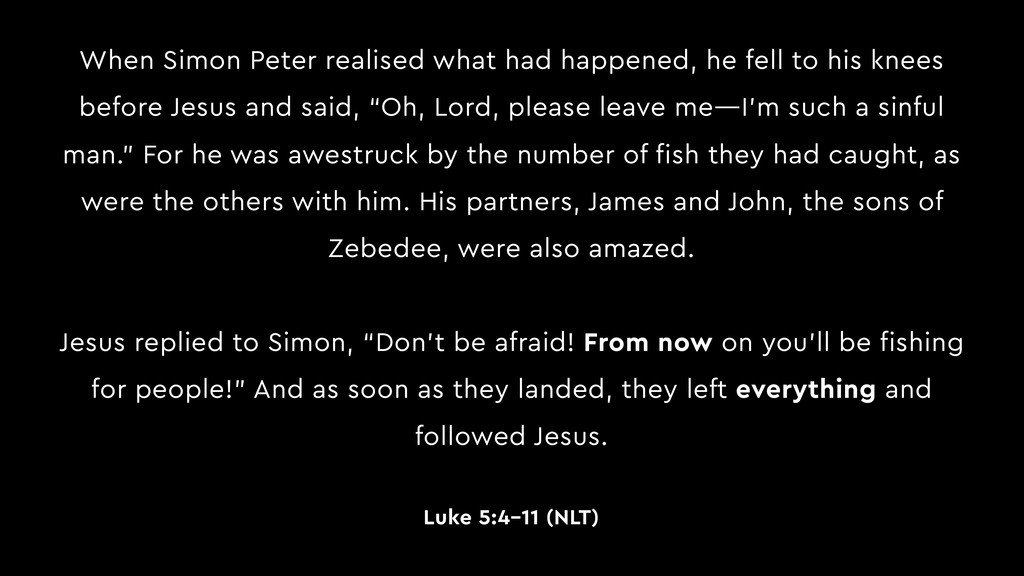 When Simon Peter realised what had happened, he...