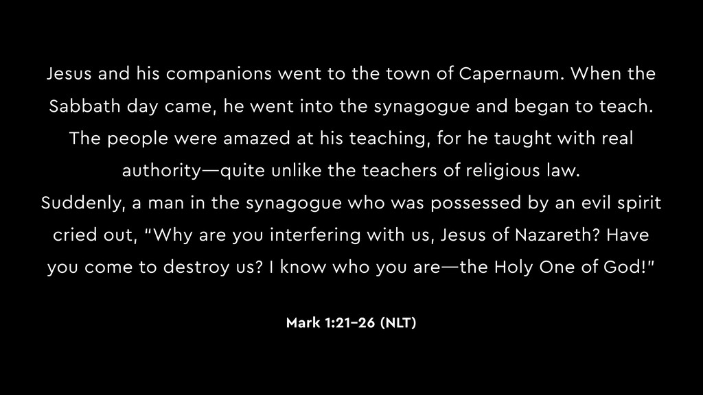Jesus and his companions went to the town of Ca...
