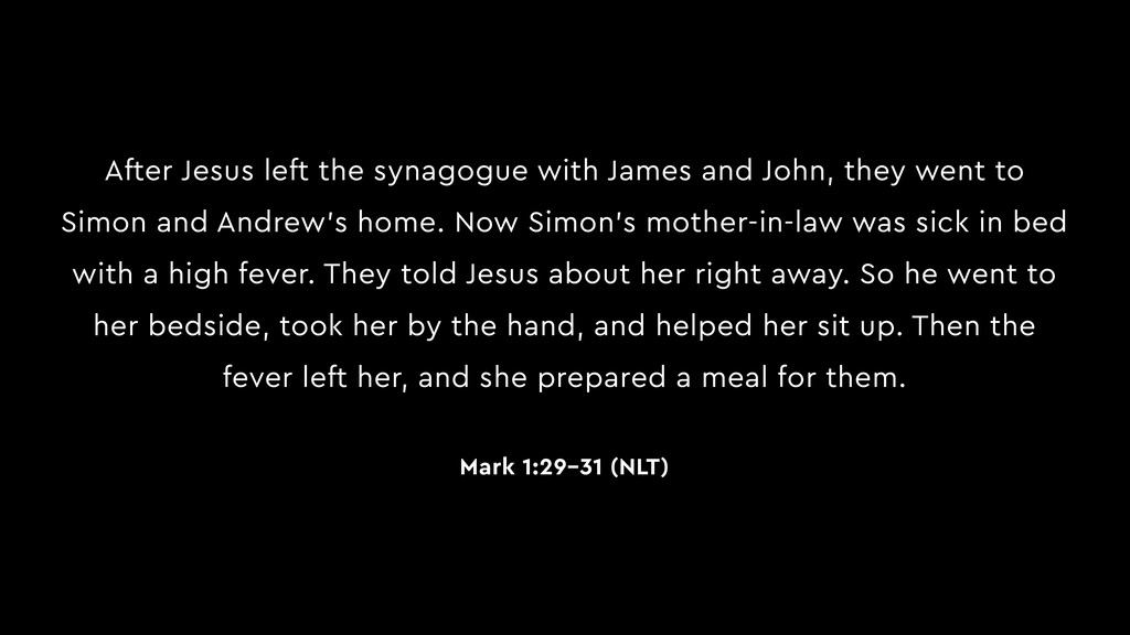 After Jesus left the synagogue with James and J...