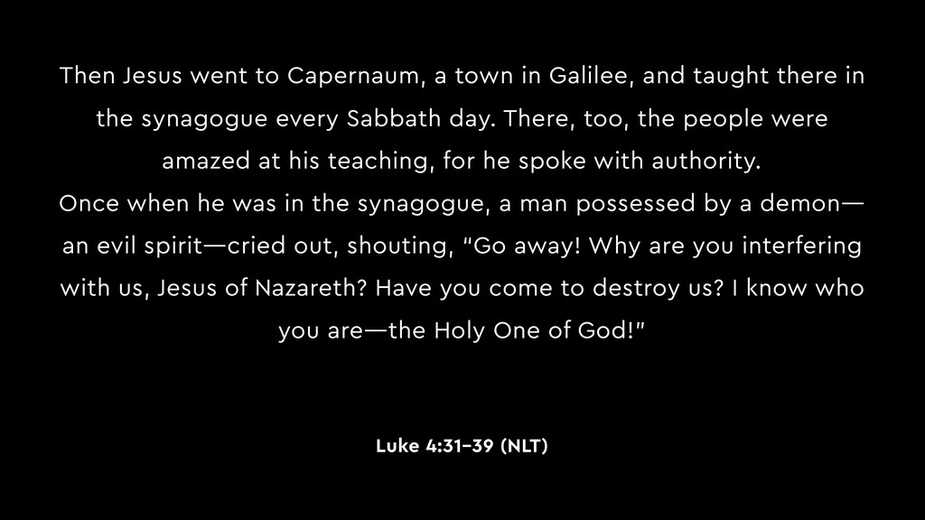 Then Jesus went to Capernaum, a town in Galilee...