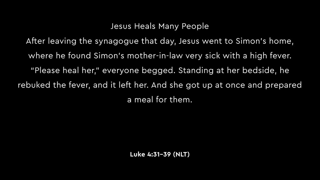 Jesus Heals Many People After leaving the synag...