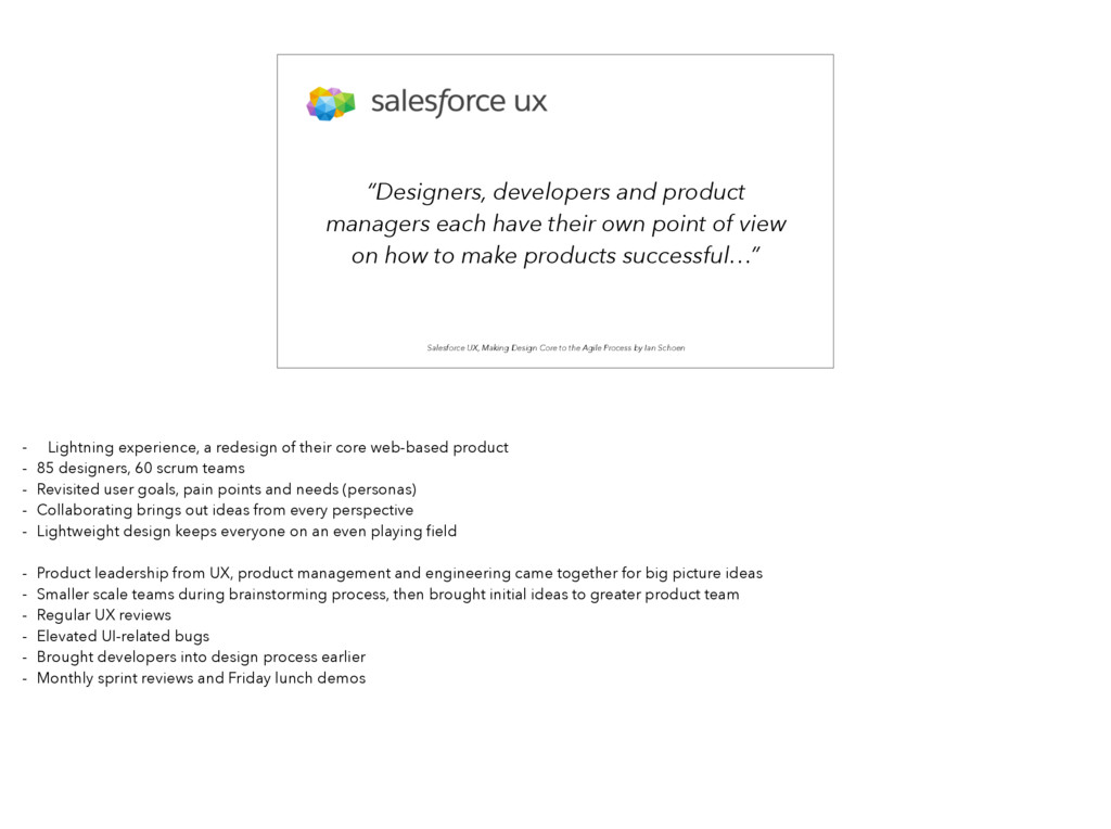 Salesforce UX, Making Design Core to the Agile ...