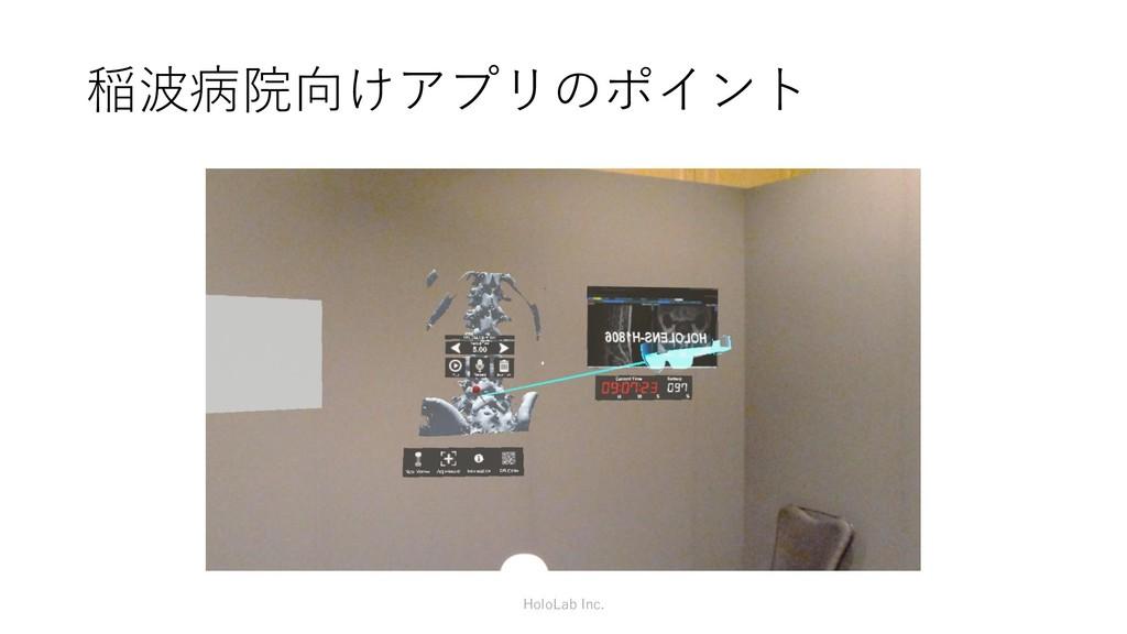 稲波病院向けアプリのポイント HoloLab Inc.