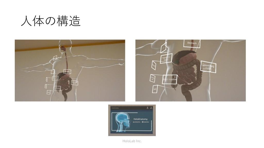 人体の構造 HoloLab Inc.