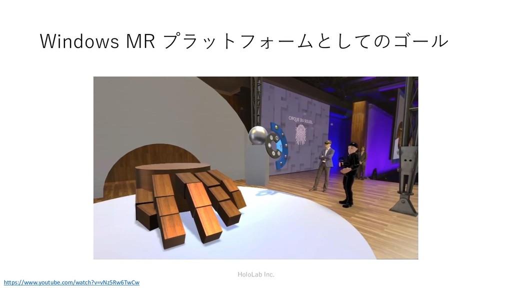 Windows MR プラットフォームとしてのゴール HoloLab Inc. https:/...