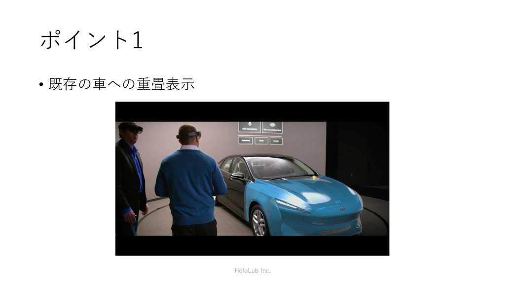 ポイント1 • 既存の車への重畳表示 HoloLab Inc.
