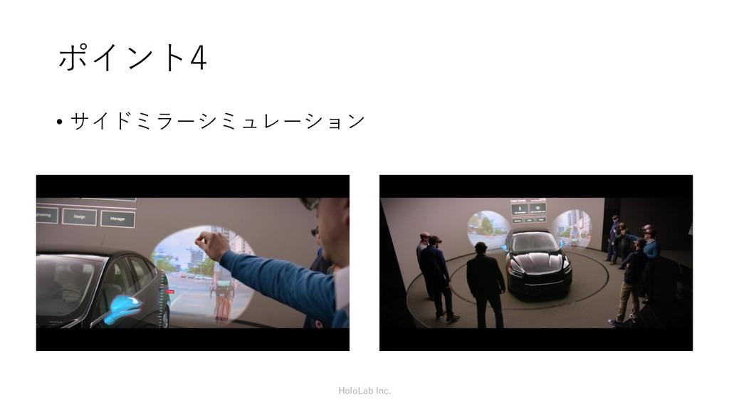 ポイント4 • サイドミラーシミュレーション HoloLab Inc.