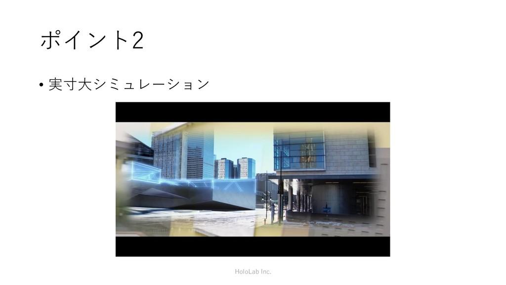 ポイント2 • 実寸大シミュレーション HoloLab Inc.