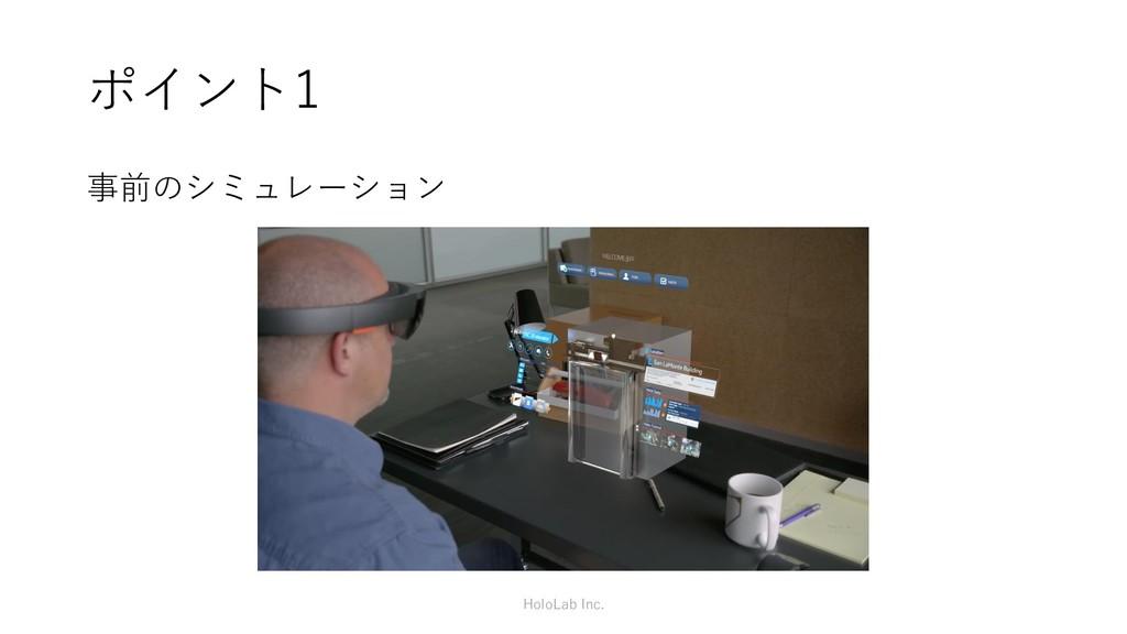 ポイント1 事前のシミュレーション HoloLab Inc.