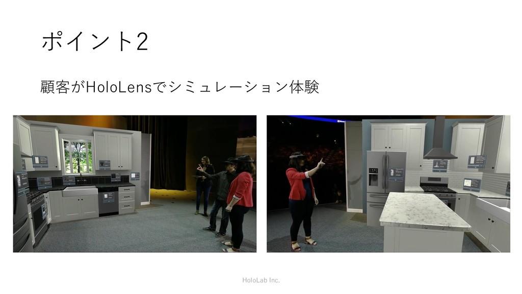 ポイント2 顧客がHoloLensでシミュレーション体験 HoloLab Inc.