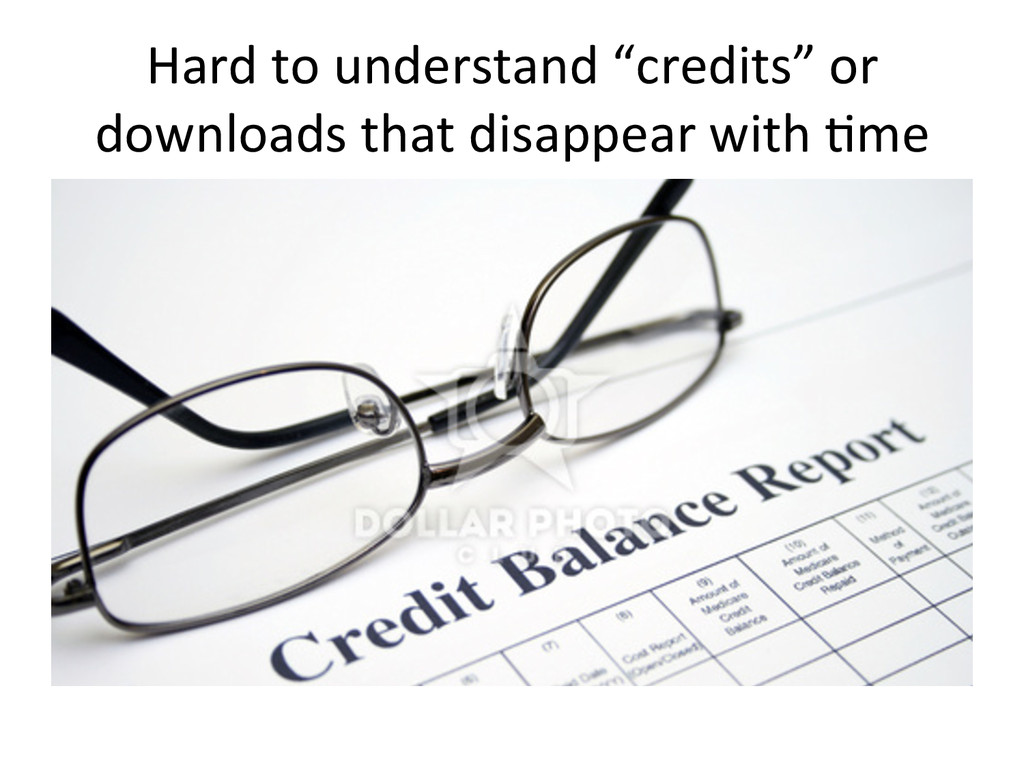 """Hard to understand """"credits"""" or ..."""
