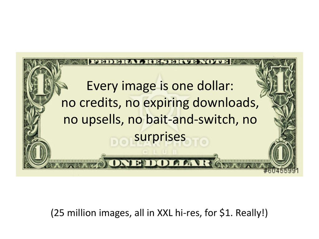 Every image is one dollar:  no...