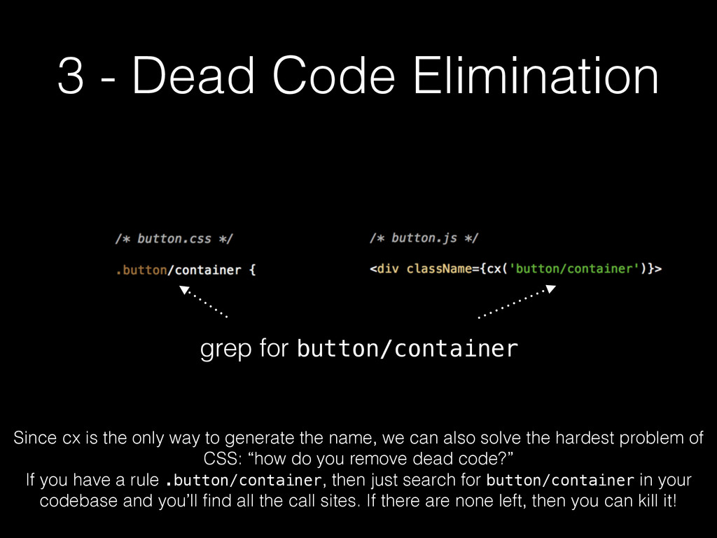 3 - Dead Code Elimination grep for button/conta...