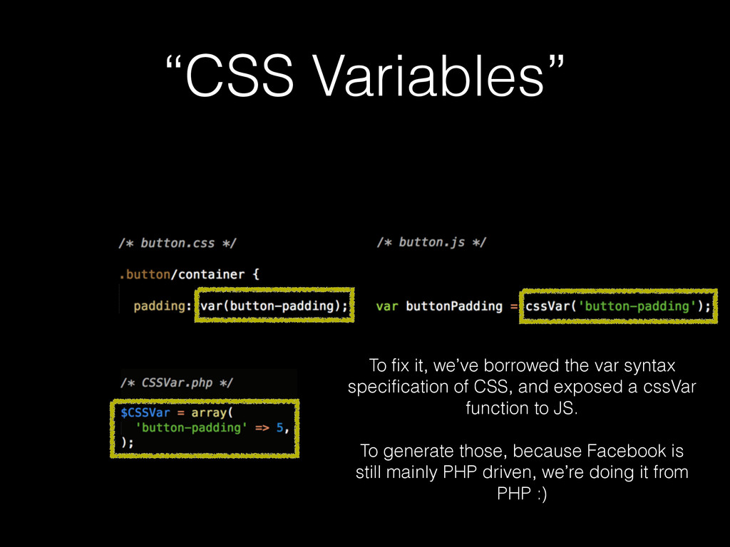 """CSS Variables"" To fix it, we've borrowed the va..."