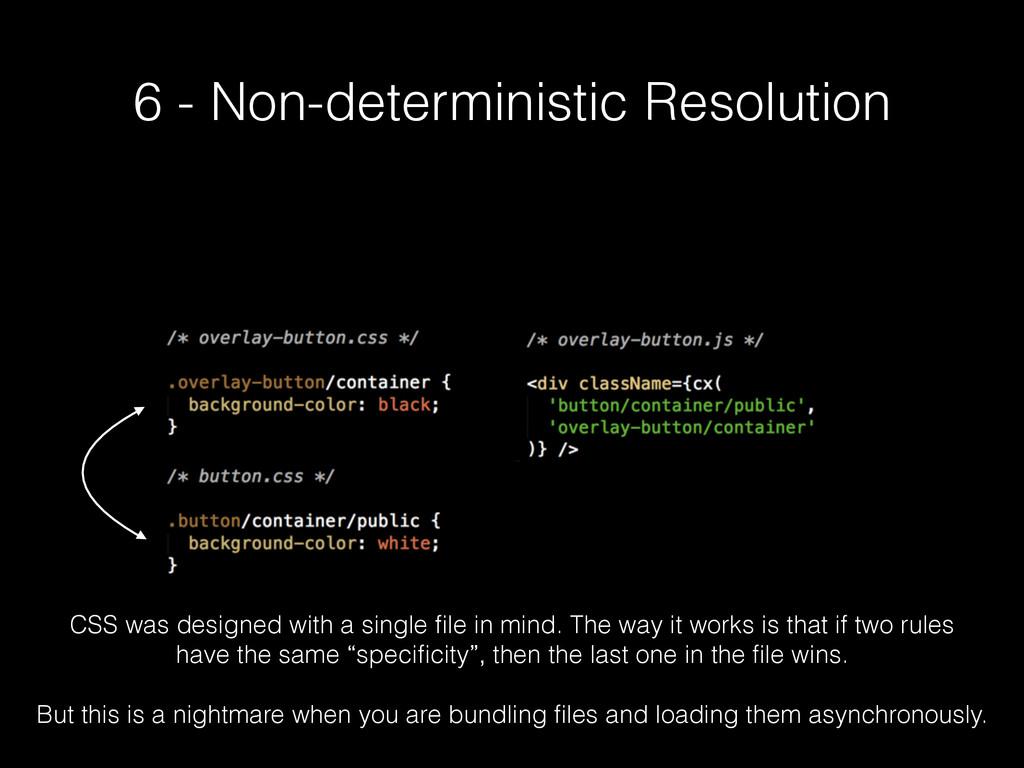 6 - Non-deterministic Resolution CSS was design...
