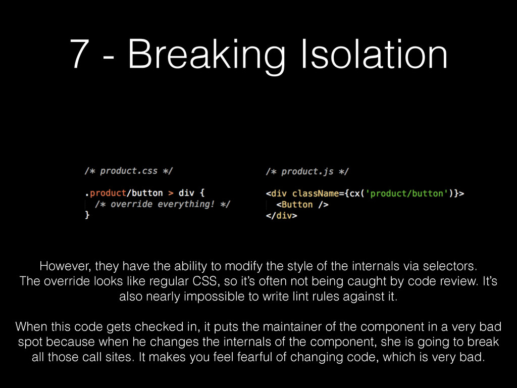 7 - Breaking Isolation However, they have the a...
