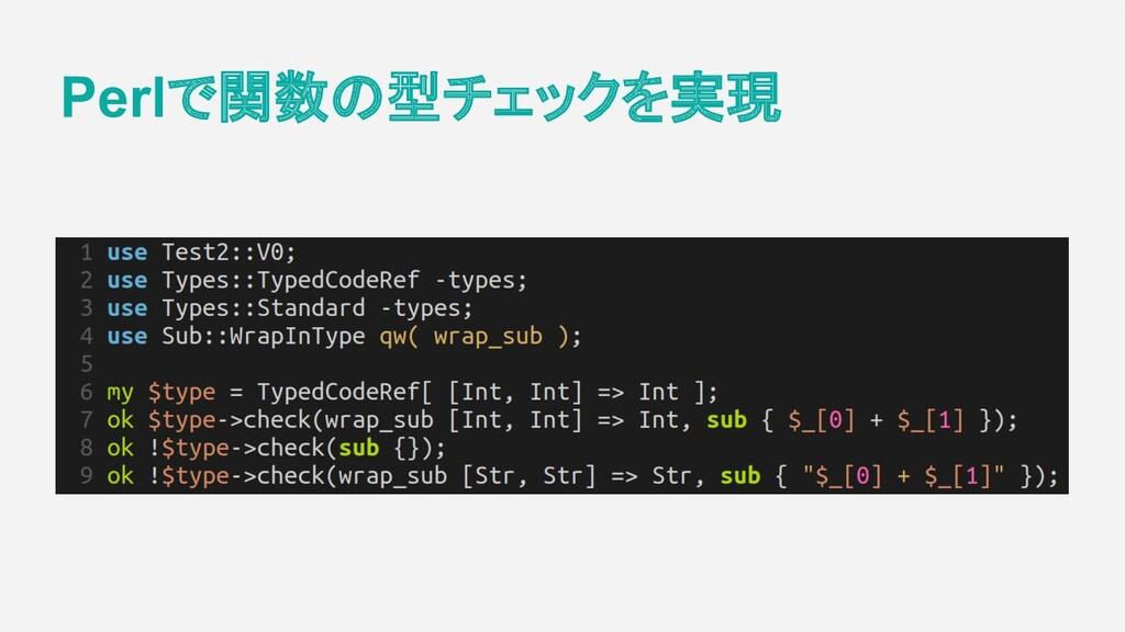 Perlで関数の型チェックを実現