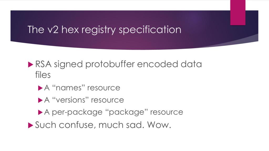 The v2 hex registry specification  RSA signed ...