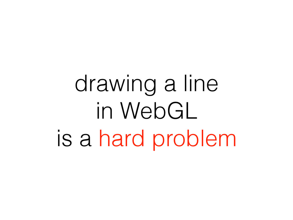 drawing a line in WebGL is a hard problem