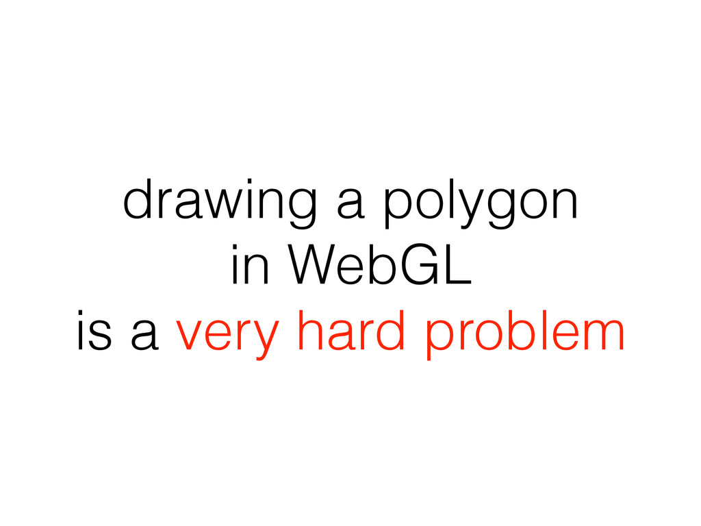 drawing a polygon in WebGL is a very hard probl...