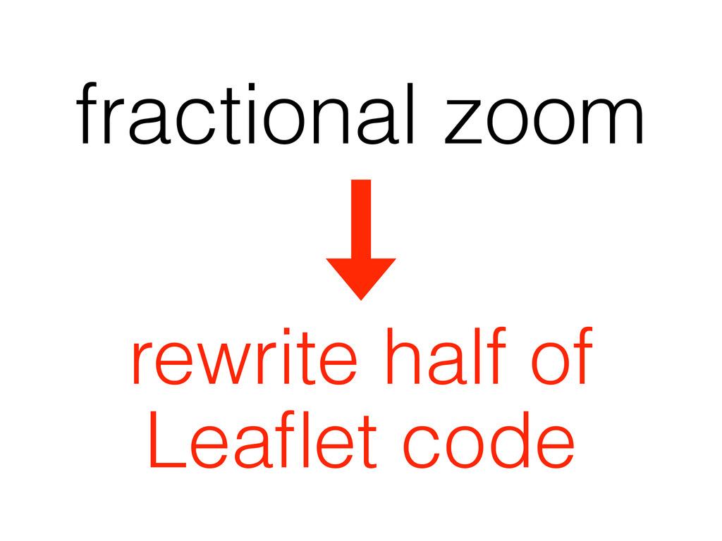 fractional zoom rewrite half of Leaflet code
