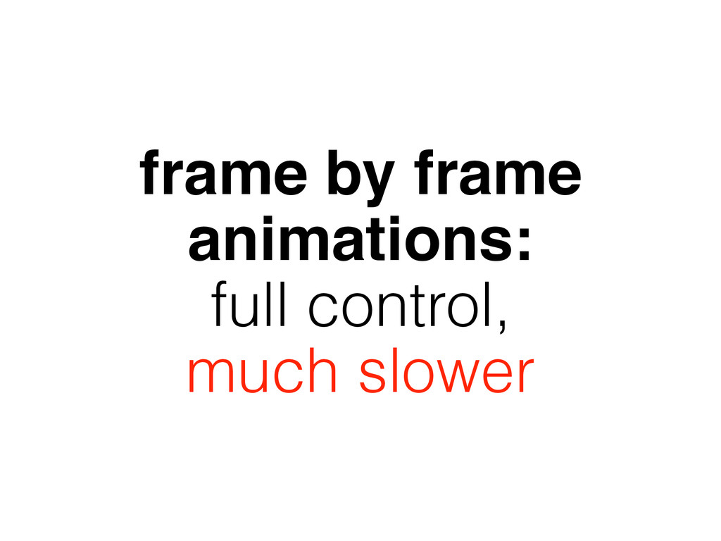 frame by frame animations: full control, much s...