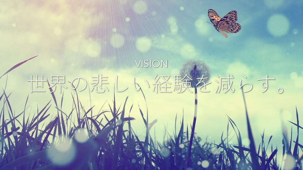 世界の悲しい経験を減らす。 VISION