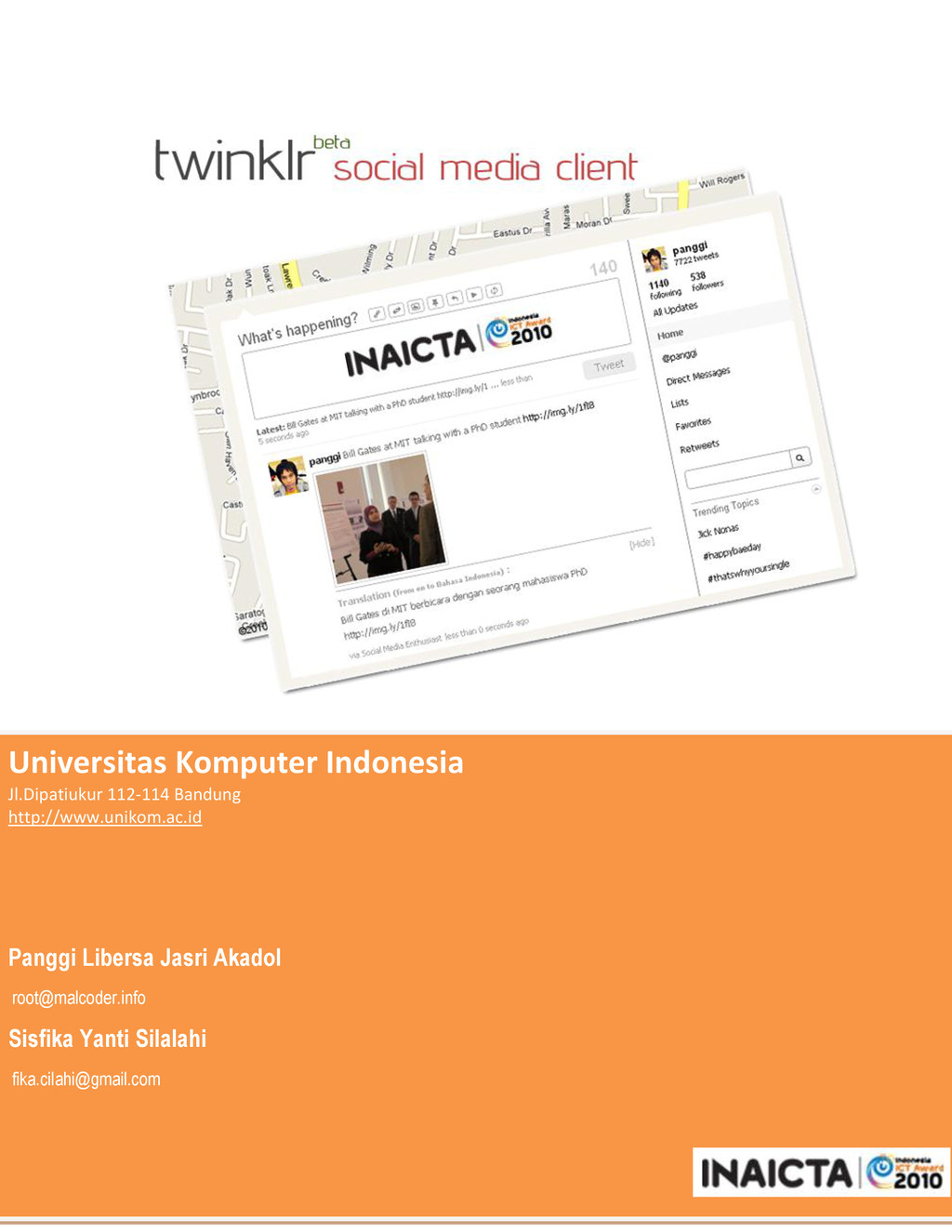 Universitas Komputer Indonesia Jl.Dipatiukur 11...